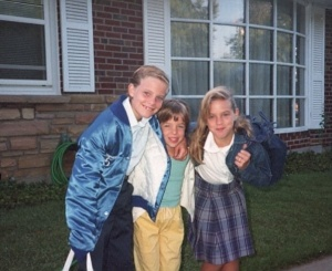 1988, Sarah (10) Bobby (9) and Radie (5) before school (I'm the cutie on the right)