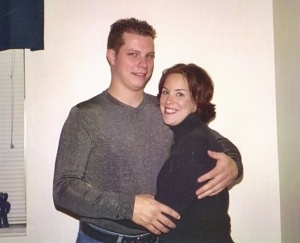 2003 Fall/Winter - David and Sarah are engaged. Our [first?] pic together.